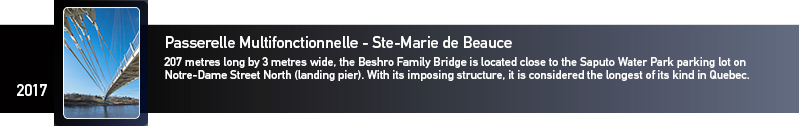 Galvanizing awards Ste-Marie de Beauce multi-functional bridge